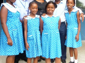 Miss Elsie Obot (Old Pupil of Monef Kiddies) and some members of Monef PRESS CLUB after an Interview