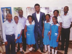 Mr Nsikak Inyang (Member of Monef Alumni) with the Editorial Board members of Monef Press Club after an Interview