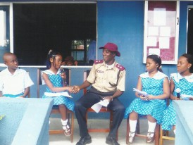 Mr. G. O Owen (Public Enlightenment Officer-FRSC) during an Interview with members of 'Facing Facts'