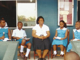 The Principal (Monef Kiddies), Mrs Ime Idang on an interview with facing facts crew